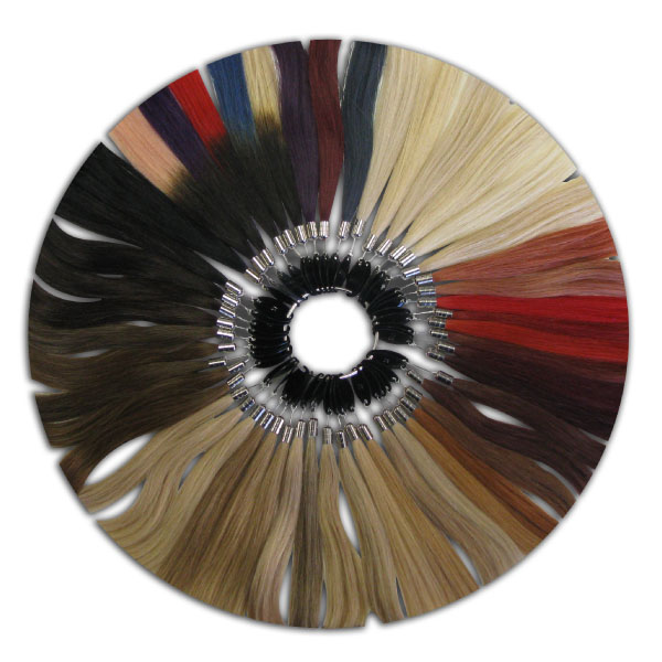 CLASSIC FINE/MEDIUM TEXTURE COLOR RING W/ INFINITE HAIR EXTENSIONS® COLOR CHART