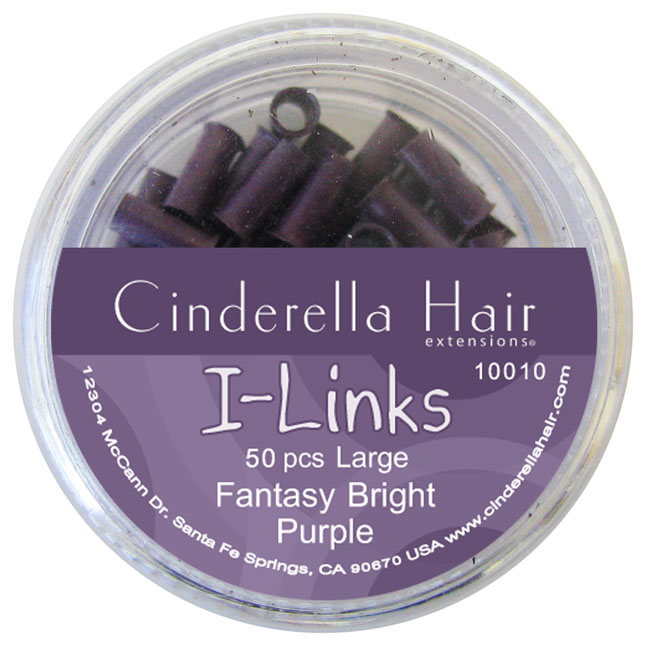 I-Links FANTASY BRIGHT PURPLE - Large (7mm x 2.5mm) 50 pcs