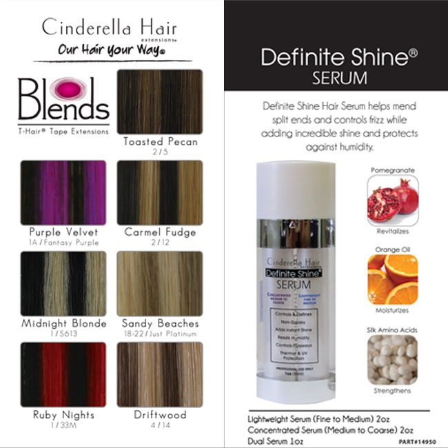 T-Hair® Blends Laminated Color Chart