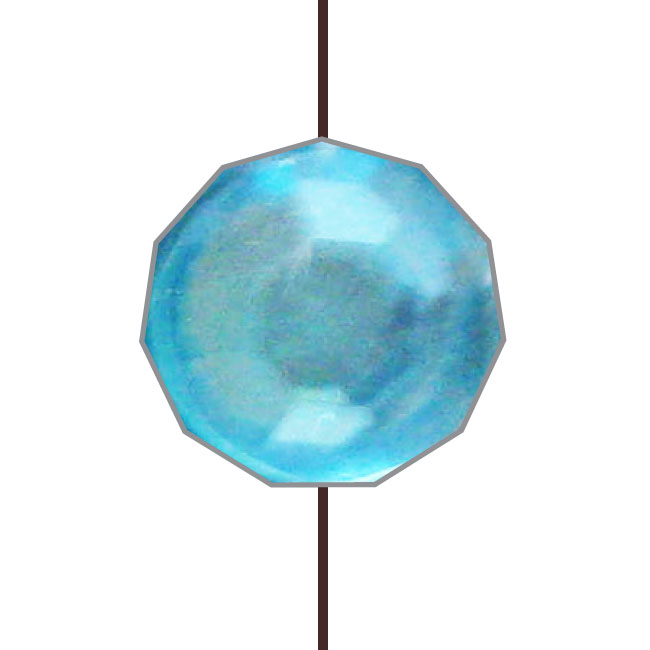 "CLASSIC BOND LIGHT BLUE DIAMOND WITH BROWN STRING 12"" (30cm)"